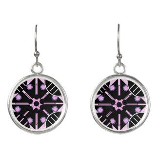 Geometric in Pink Earrings