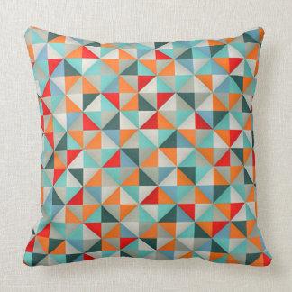 Geometric Kaleidoscope  Triangles Throw Pillow