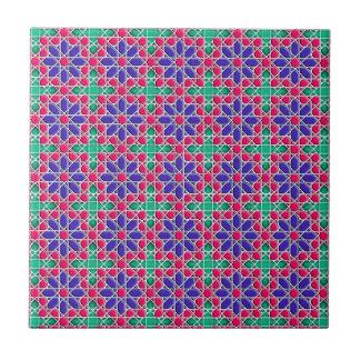 Geometric moroccan pattern small square tile