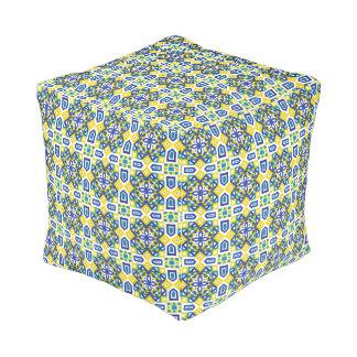 Geometric Moroccan Watercolor Seamless Pattern 3 Pouf