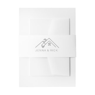 Geometric Mountain | Modern | Custom Names Invitation Belly Band
