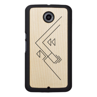 Geometric Mountain | Modern | Custom Wood Phone Case