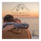 Geometric Mountian | Bohemian Save The Date Card