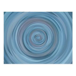 Geometric | New Address | Blue Circles | Vortex Postcard