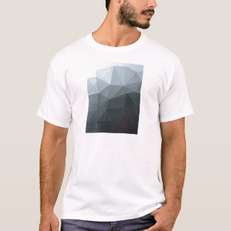 Geometric Ombre Gray Colorblock T-Shirt