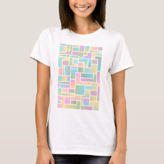 Geometric Ombre Rainbow Colorblock T-Shirt