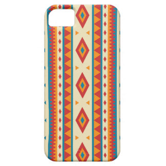 Geometric Orange Red and Blue Pattern iPhone 5 Covers