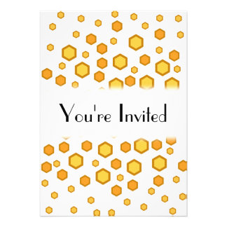 Geometric Pattern in Yellow and Orange. Personalized Announcements