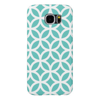 Geometric Samsung Galaxy S6 Case in Turquoise