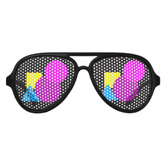 Geometric shapes sunglasses.