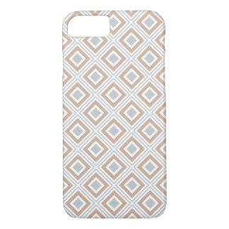 geometric squares pattern neutral colors iPhone 8/7 case