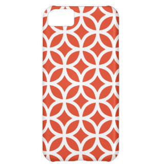 Geometric Tangerine iPhone 5 Case