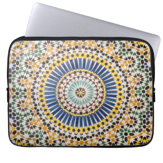 Geometric tile pattern, Morocco Laptop Sleeve