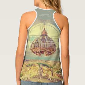 Geometric Vatican St Peter's Square Basilica Italy Singlet