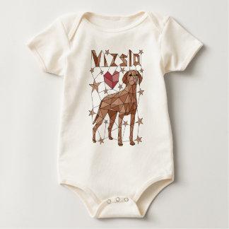 Geometric Vizsla Baby Bodysuit