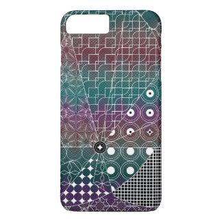 Geometric White pattern on Black  Chevron patte iPhone 7 Plus Case
