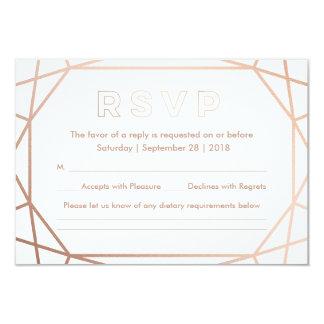 Geometric | Winter Wedding RSVP Card