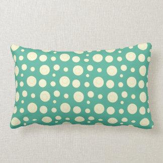 Geometric Yellow and Green Polka Dots Cushions
