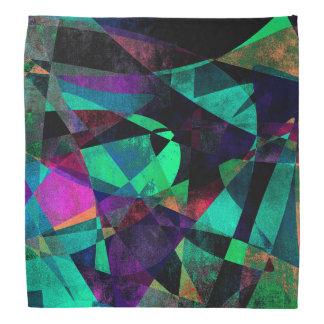 Geometrical, Colorful, Grungy Abstract Art Bandana