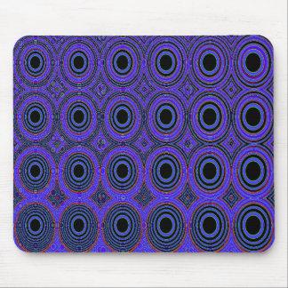 Geometrics Blue Circles Mouse Pads
