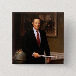 George Bush 15 Cm Square Badge