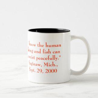 George Bush Being Himself Two-Tone Coffee Mug