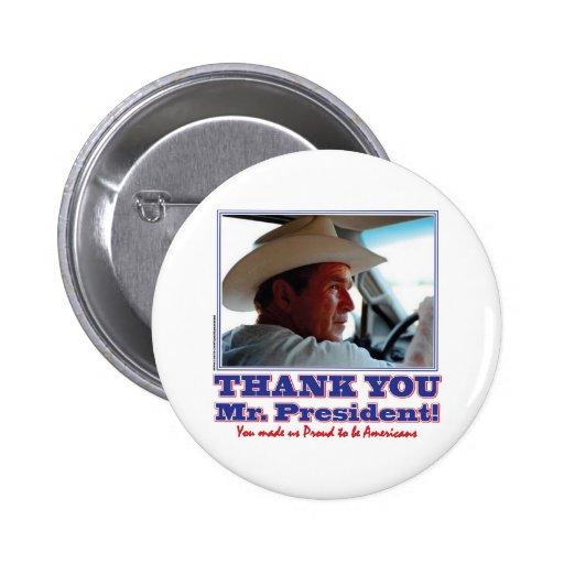 George Bush/Thank you! Pinback Buttons