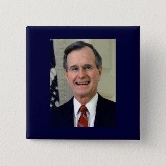 George H. W. Bush 41 15 Cm Square Badge