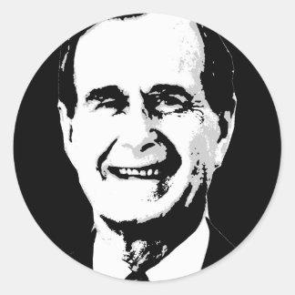 George H.W. Bush Gear Round Sticker