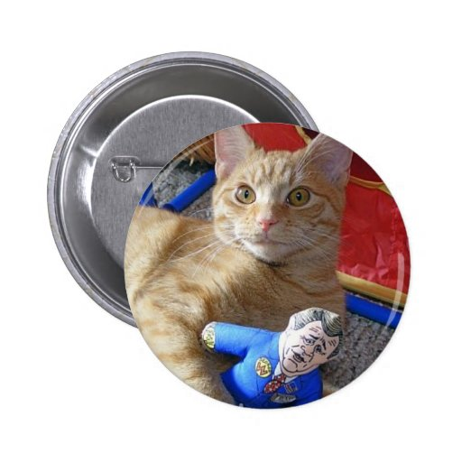 George takes care of George Pinback Buttons