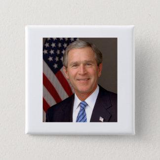 George W Bush 15 Cm Square Badge