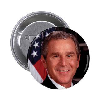 George W Bush 6 Cm Round Badge