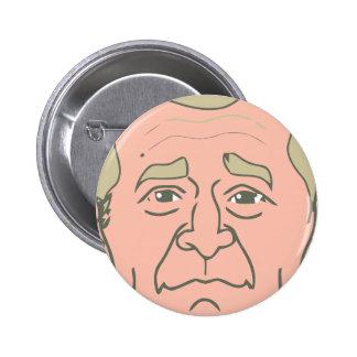 George W. Bush Cartoon Face 6 Cm Round Badge