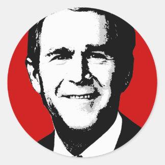 George W Bush Gear Round Sticker