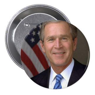 George W. Bush official portrait 7.5 Cm Round Badge