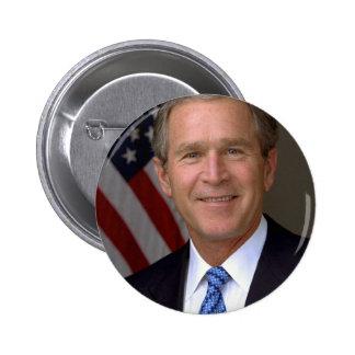 George W. Bush official portrait 6 Cm Round Badge