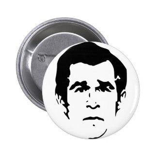 George W. Bush Stencil 6 Cm Round Badge