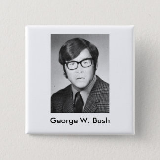 George W. Bush Yearbook photo 15 Cm Square Badge