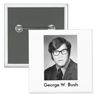 George W. Bush Yearbook photo 15 Cm Square Badge