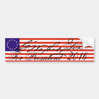 George Washington 2016 Bumper Sticker