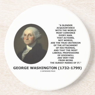 George Washington Actions Not Words True Criterion Coaster