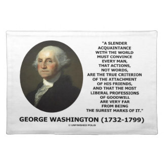 George Washington Actions Not Words True Criterion Placemat