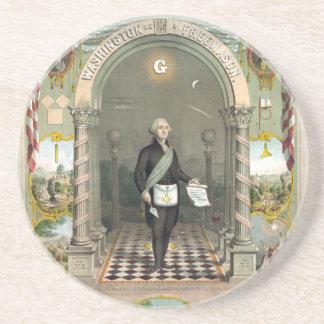 George Washington as a Freemason Coaster