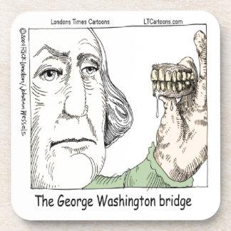 George Washington Bridge & Dentures Funny Gift Coaster