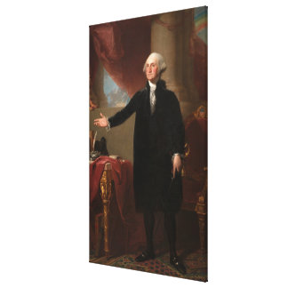 GEORGE WASHINGTON by Gilbert Stuart (Lansdowne) Canvas Print
