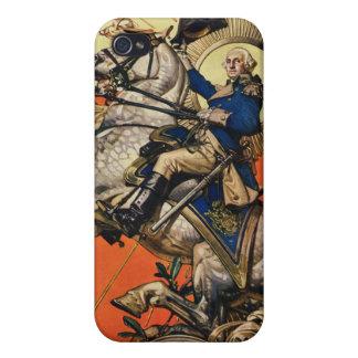 George Washington on Horseback Cases For iPhone 4