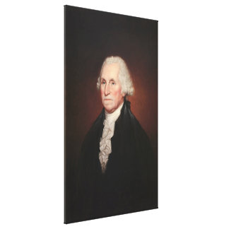 GEORGE WASHINGTON Portrait by Rembrandt Peale Canvas Print