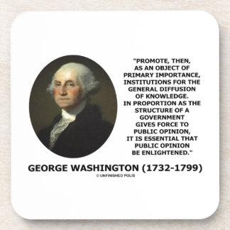 George Washington Promote Diffusion Of Knowledge Coaster