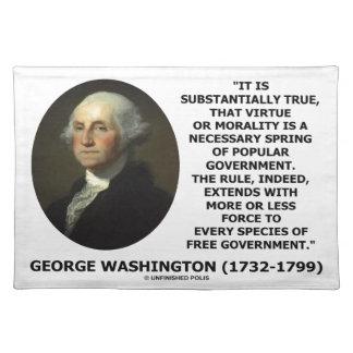 George Washington Virtue Morality Popular Gov't Placemat