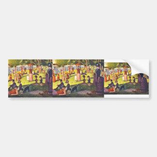 Georges Seurat- 'A Sunday on La Grande Jatte' Bumper Sticker